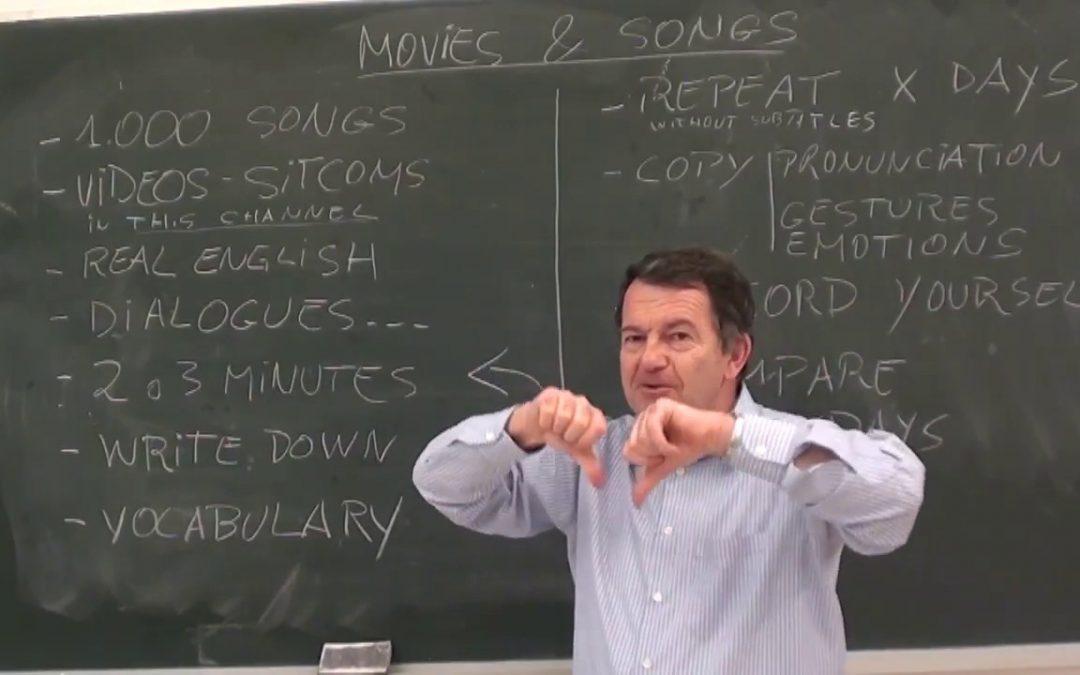 Aprender inglés con películas y canciones