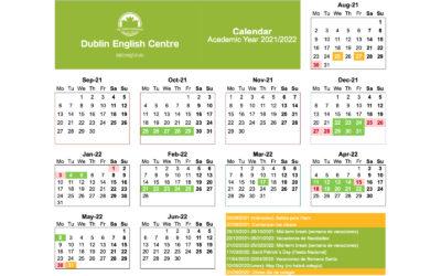 Calendario año escolar Irlanda 2021/2022